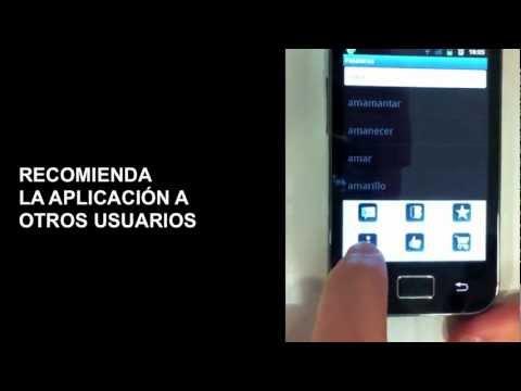 Video demostrativo de uso del Diccionario de LSE de textoSIGN (Lite)