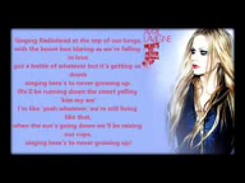 Download Avril Lavigne   Here s To Never Growing Up Lyric Video