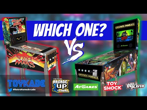 Arcade1UP, AtGames, ToyShock & Well Played Digital Pinball  - Which one? from ToyKade