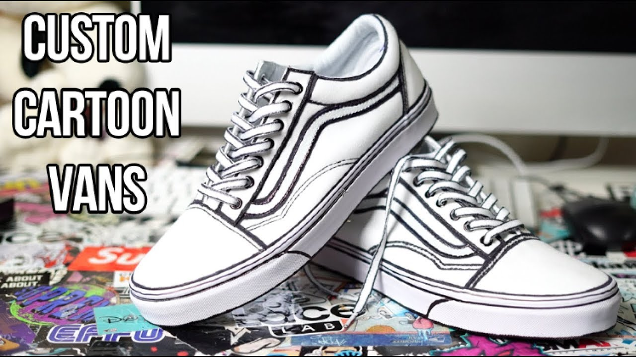 b161185d084 CUSTOM CARTOON VANS!!! (TUTORIAL) - YouTube