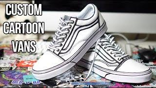 CUSTOM CARTOON VANS!!! (TUTORIAL)