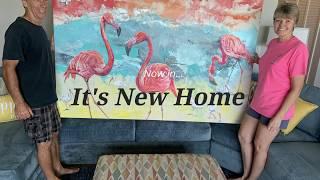 Custom Flamingo and Ibis Acrylic Modern Art
