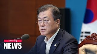 Moon cancels vacation as damage grows from torrential rain