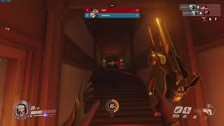 Overwatch (PC) -- Deathmatch Clip - Battle Mercy Gets 4 Finishing Blows