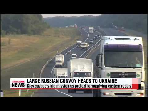 Russian aid convey heads to Ukrainian border amid high tensions