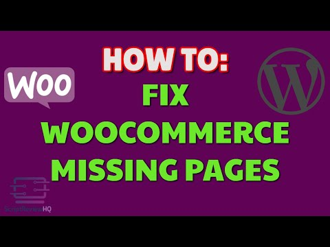 Fix Woocommerce missing default pages | WordPress thumbnail