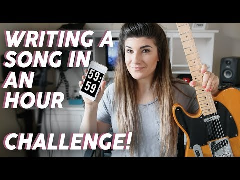 WRITING A SONG IN ONE HOUR CHALLENGE - Christina Rotondo
