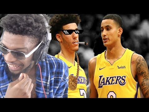 LAKERS TOLD LONZO CHILL AFTER THIS HAHA! LONZO BALL - KYLIE KUZMA