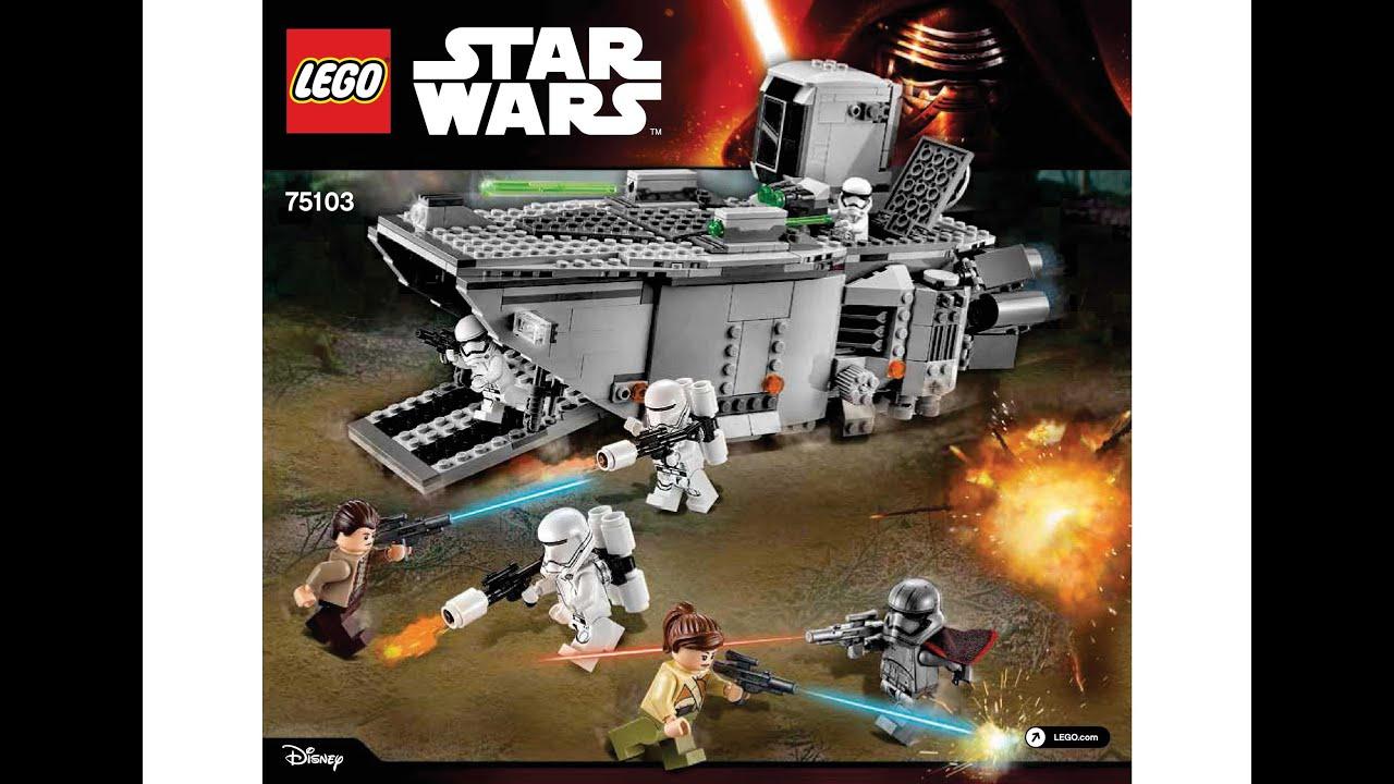 lego 75103 first order transporter instructions lego star wars 2015 youtube. Black Bedroom Furniture Sets. Home Design Ideas
