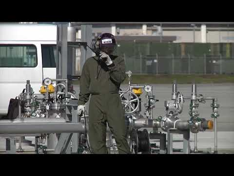 Marine Corps Air Station Iwakuni Station Fuels tested out their new hot refuel on MV-22 Osprey!