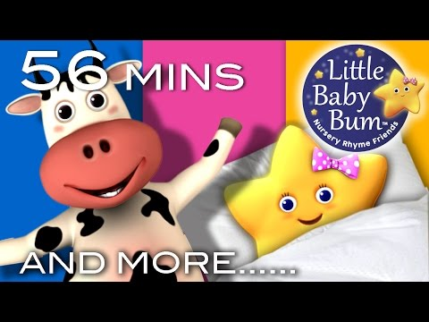 Ten in The Bed  | Plus Lots More Nursery Rhymes | 56 Minutes Compilation From LittleBabyBum!