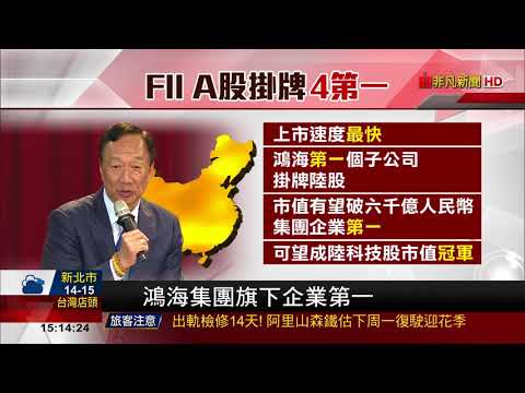 【非凡新聞】遞件到核准僅36天 鴻海FII掛牌A股創紀錄
