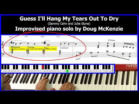 Guess I'll Hang My Tears Out To Dry  - jazz piano tutorial