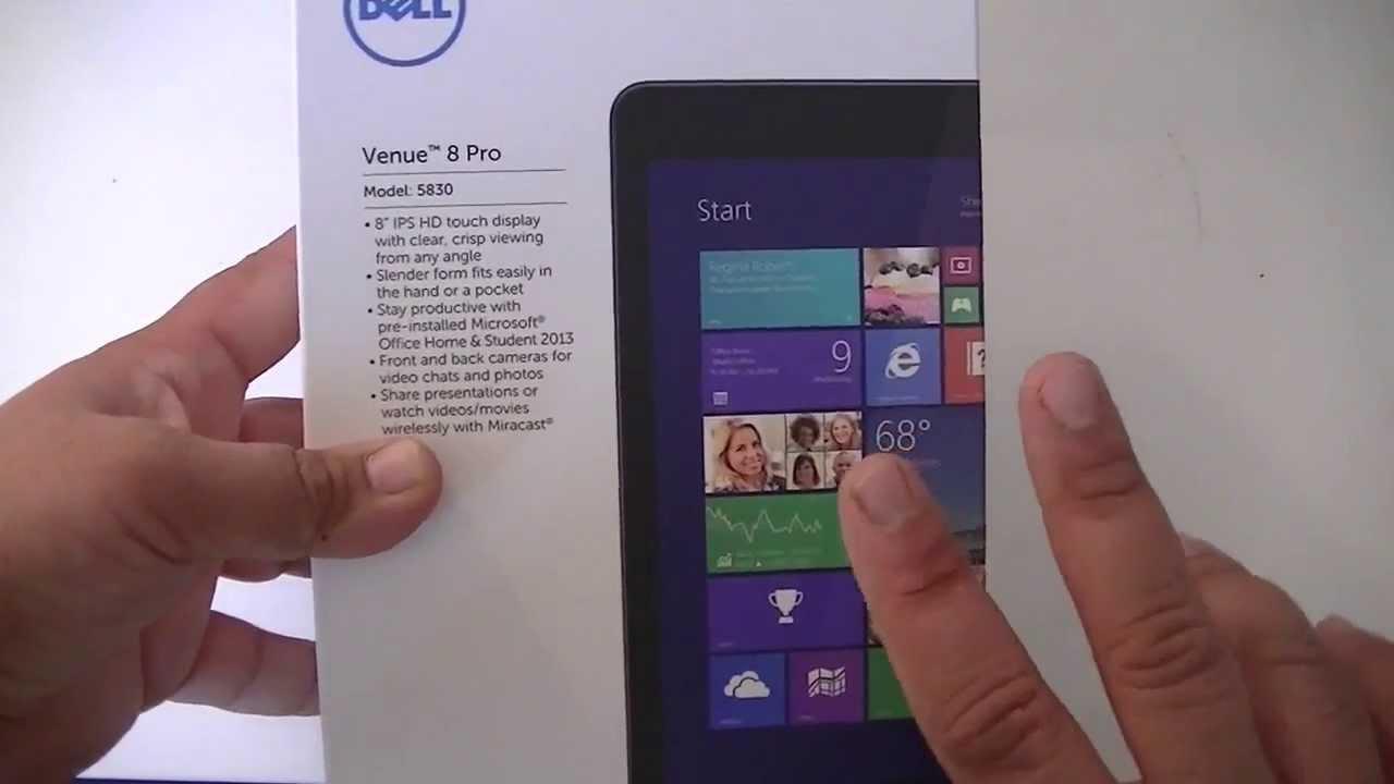 Dell Venue 8 Pro Windows 8 1 HD Tablet 5830 Review