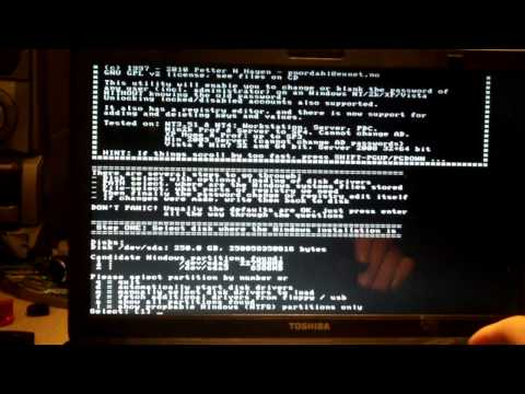 Using Hiren's Boot CD To Clear A Windows Password