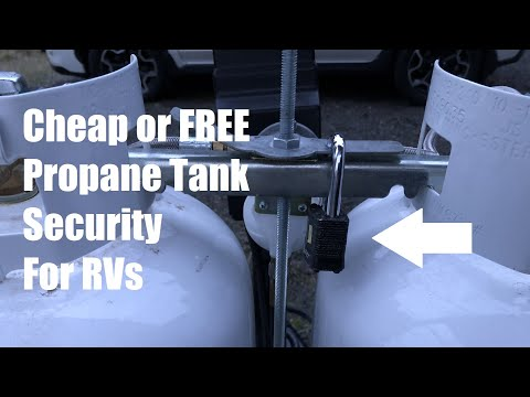 Inexpensive RV Propane Tank Security | Budget RV Upgrades