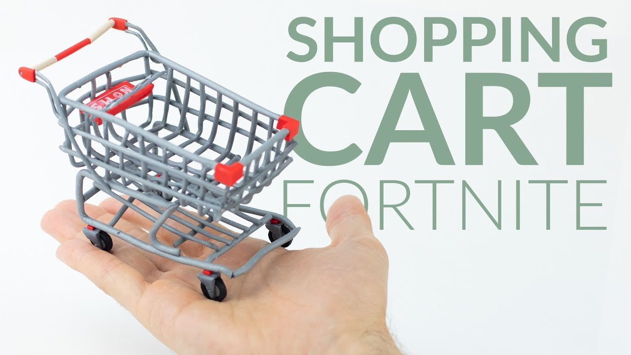 shopping cart fortnite battle royale polymer clay tutorial - fortnite idea shop