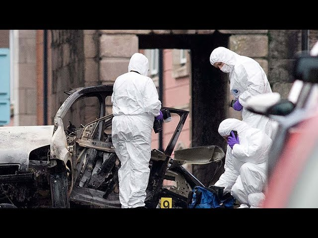 Four arrested over Northern Ireland car bomb, New IRA suspected
