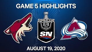NHL Highlights   1st Round, Game 5: Coyotes vs. Avalanche - Aug. 19, 2020