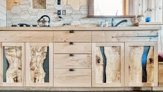 Making Crazy Kitchen Cabinets for our Off Grid Tiny House