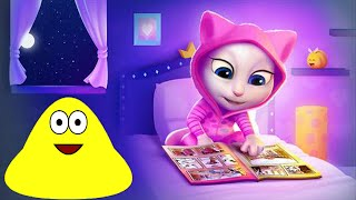 My Talking Angela Vs Pou Great Makeover Gameplay HD