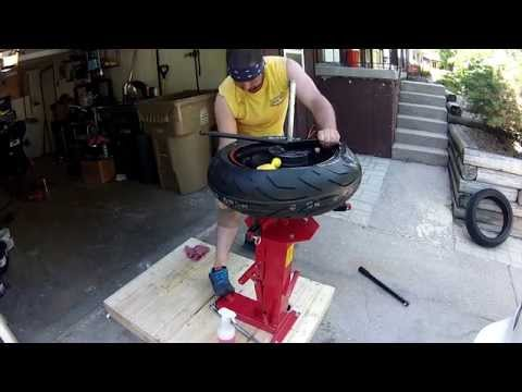 how to change motorcycle tires yourself