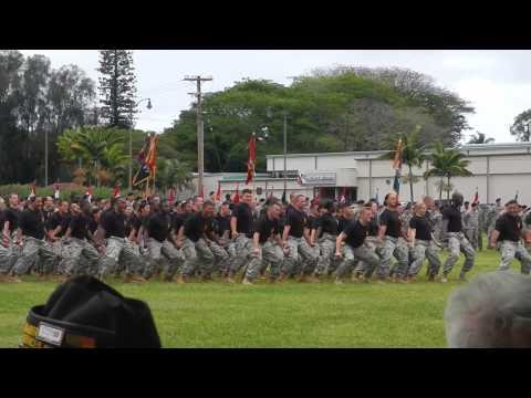 25th Infantry Division HAKA demonstration