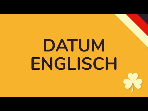 DATUM ENGLISCH | Britische Vs. Amerikanische Datumsangabe (animiert) 🇩🇪