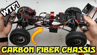 ALL METAL CARBON FIBER CHASSIS 1/10 ROCK CRAWLER - Build Video Part 1