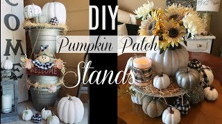 DIY Dollar Tree Fall Pumpkin Patch Stands | Front Porch Fall Ideas and DIYS