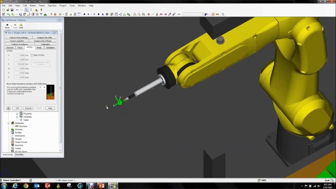 fanuc irvision how to set up a fanuc 3d area sensor in roboguide rh youtube com Fanuc iRVision User Manual fanuc irvision manual pdf