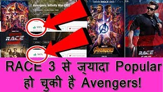 Sikander Vs Thanos I Avengers Infinity War Become More Popular Film In INDIA Than RACE 3