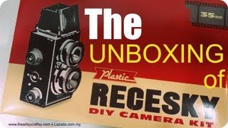 DIY Camera Recesky Twin Lens Reflex - Unboxing