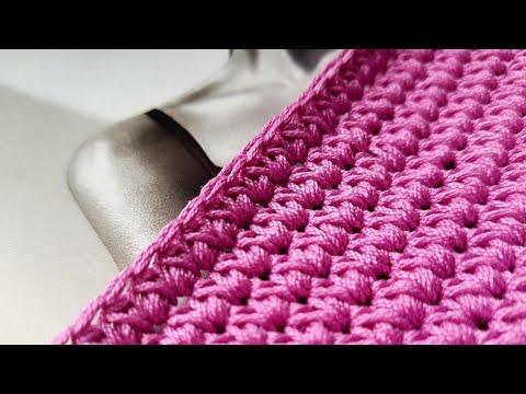 Плотный узор крючком для вязания сумок и ковров ❤ Crochet Pattern. Strickmuster. örgü Deseni