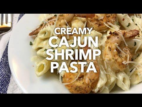Creamy Cajun Shrimp Pasta Youtube