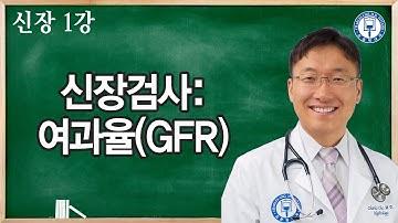 신장 1강: 왜 신장 여과율이 조금 낮은데 큰 문제가 될까? 신장검사-여과율 (GFR)