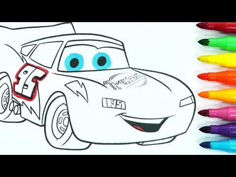 ROTULADORES MÁGICOS DE CARS con RAYO MCQUEEN Y DIBUJOS SORPRESA. Color Wonder Rayo McQueen/ DIVER+