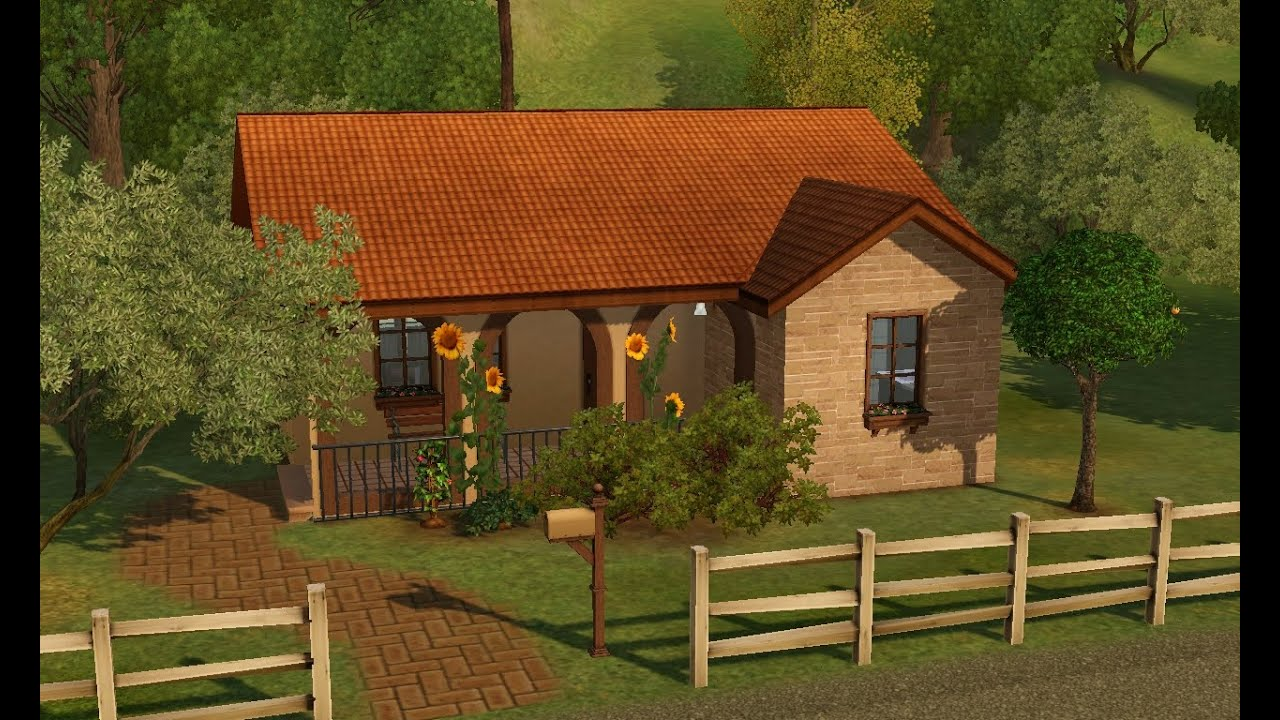 Sims 3 House Building Bel Casolare Italian Starter Home