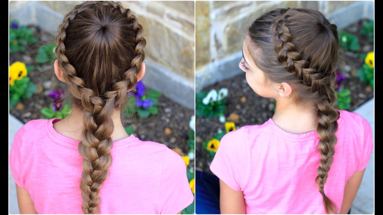 Dutch Starburst Braid Cute Girls Hairstyles  YouTube - Easy Hairstyles For Little Girls