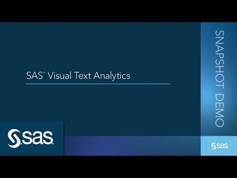 SAS Visual Text Analytics Demo