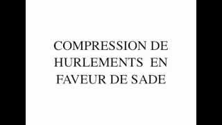 Compression Hurlements en faveur de Sade de Guy Debord (2009) by Gérard Courant