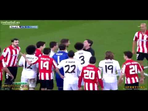 Athletic Bilbao vs real madrid Cristiano Ronaldo Red Card
