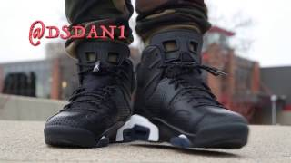 air jordan 6 black cat review on feet
