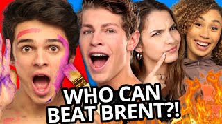 Brent Rivera VS Best Friends CHALLENGE COMPILATION w/ Ben Azelart, Lexi Rivera, Eva Gutowski