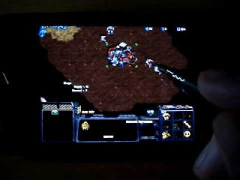 starcraft running on samsung omnia II (i8000)
