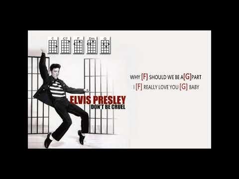 Elvis Presley Dont Be Cruelukulele Play Along Weasy Chords