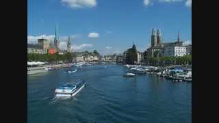 Walk along the Limmat River - Zurich, Switzerland