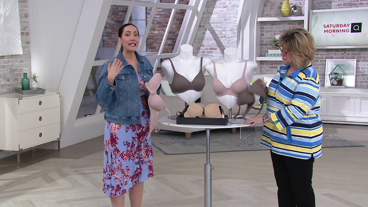 dccfce347318 Soma Set of 2 Embraceable T-Shirt Bras on QVC - YouTube