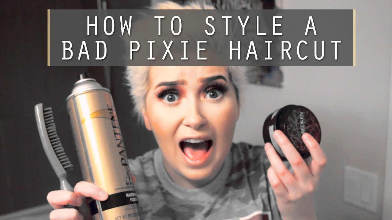 How To Style A Bad Pixie Haircut A Poisoned Production Youtube