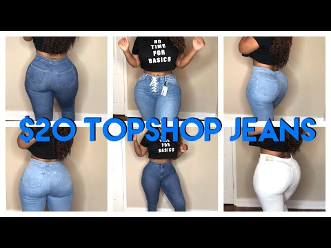 Topshop $20 Jeans Try On Haul | Curvy Thick Girl Approved. http://bit.ly/2WCYBow